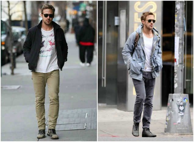 Stylish doesn't mean overdone or complicated. Check out Ryan Gosling's personal style.