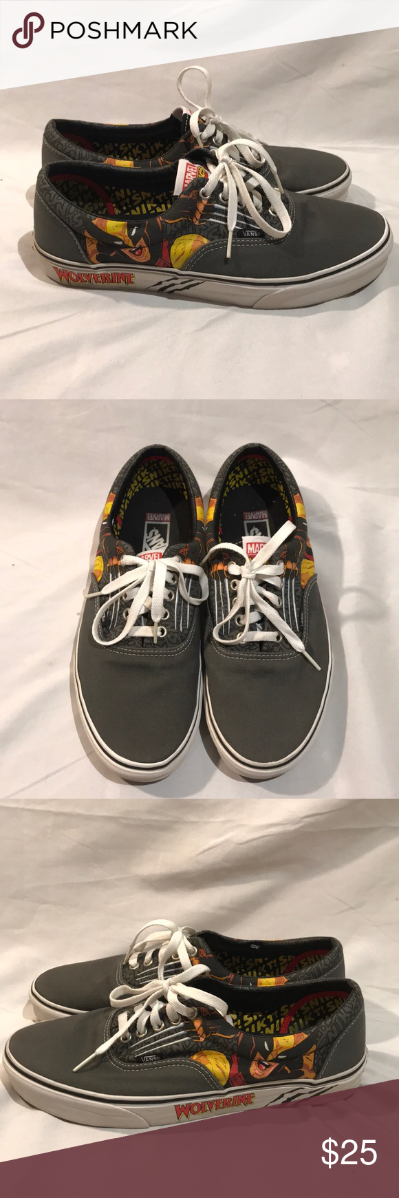 fc8ce49dbcf Vans Marvel Comics Wolverine edition shoes Used. Vans Marvel Comics  Wolverine edition shoes Men s size 10 Vans Shoes Sneakers