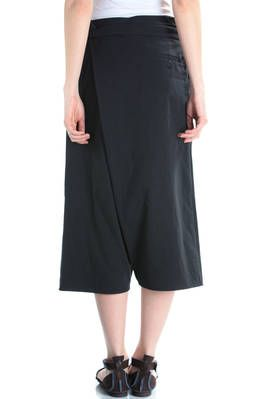 wrap cropped trousers in washed crêpe cotton - FORME D' EXPRESSION