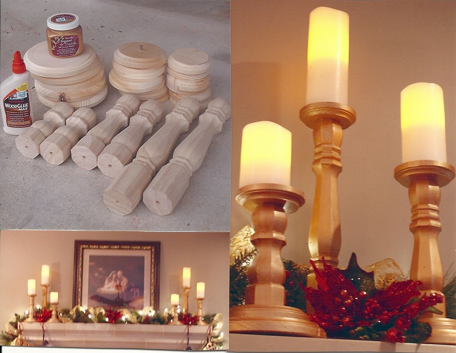 DIY Candlesticks! Table legs from Home Depot, Paint and