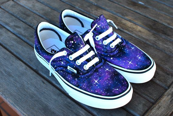 Custom Galaxy Vans Era shoes by B Street Shoes on Etsy
