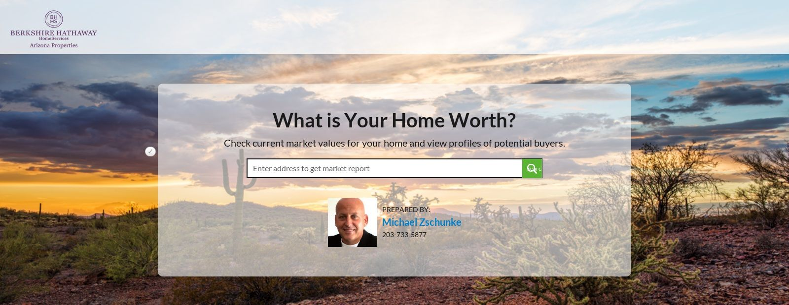 Home Value Estimator by Michael Zschunke Arizona real