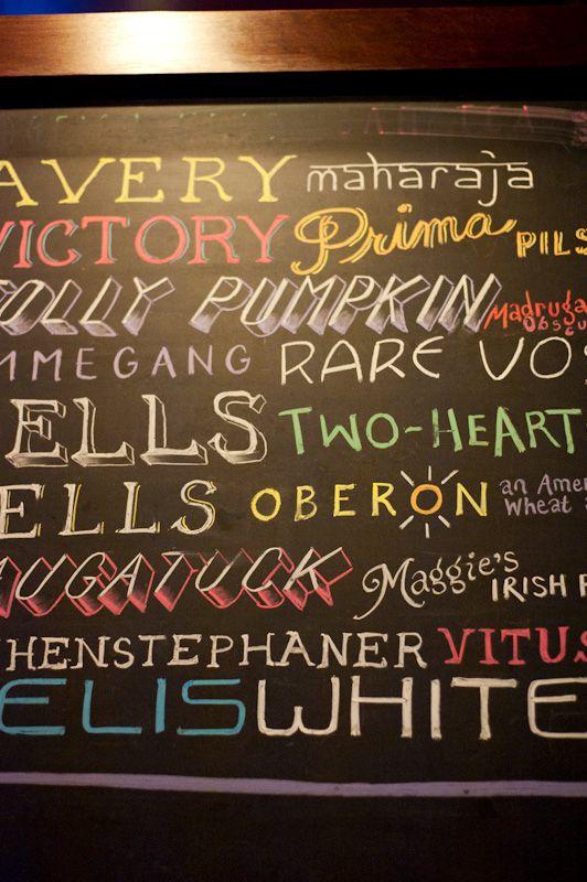 Chalk board writing ideas