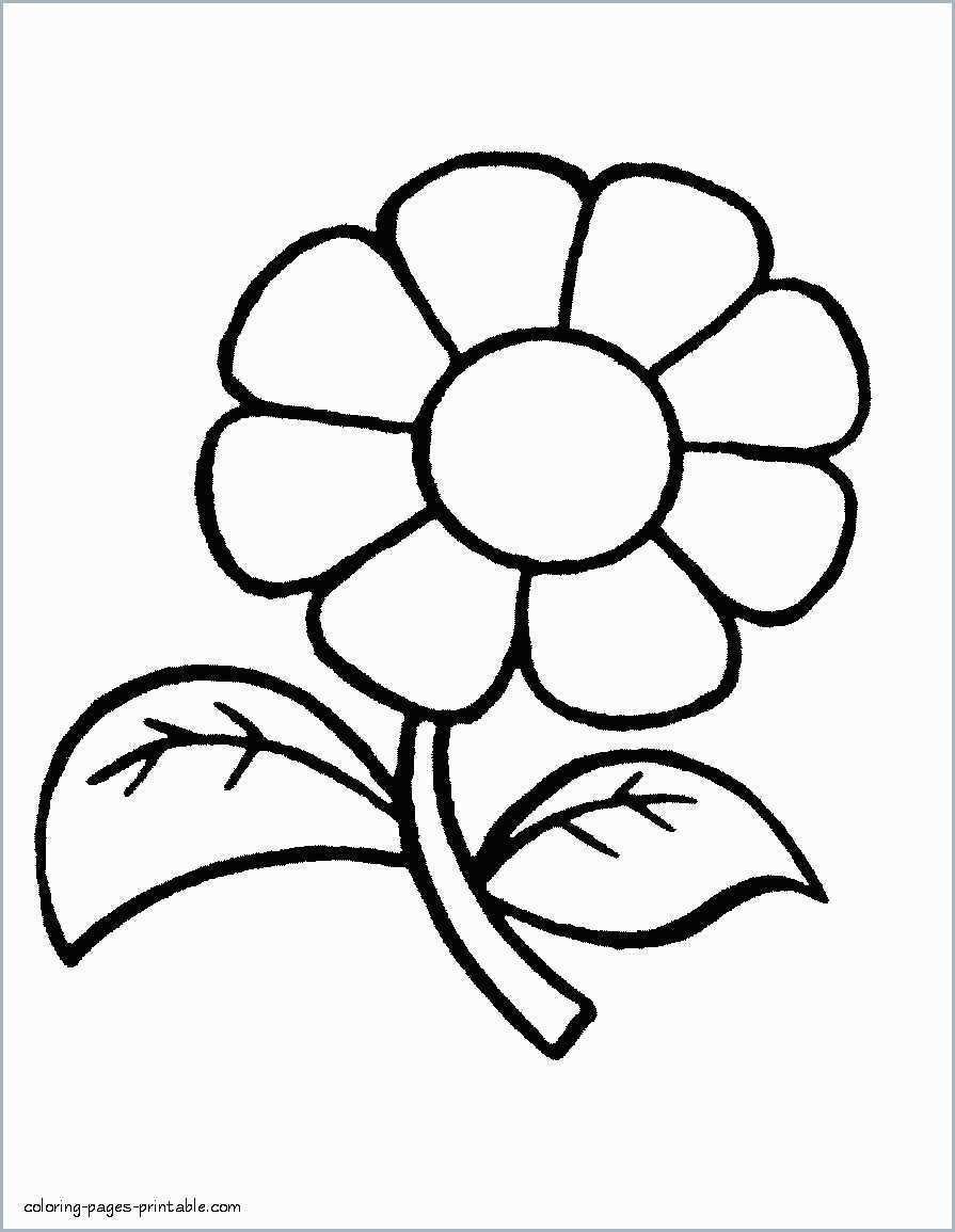 Cute Drawings Kids Easy Flower Coloring Pages Easy Coloring Pages Cute Flower Drawing