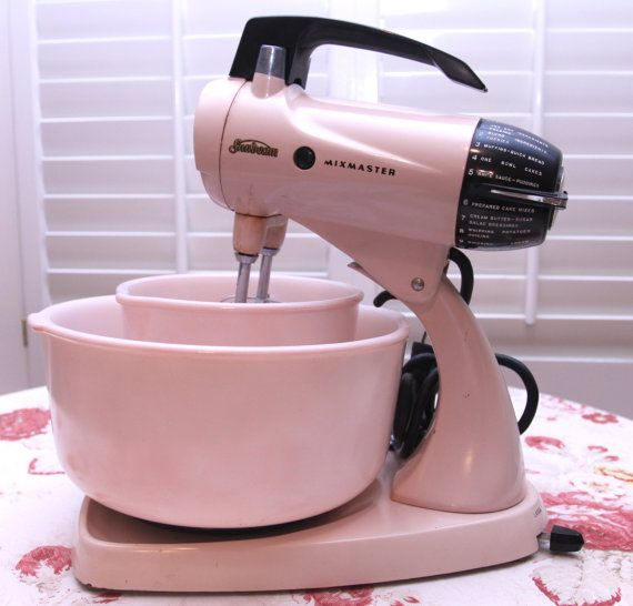 Beautiful Vintage 1950 S Pink Sunbeam Mixmaster By