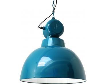 Hk Living Hanglampen : Hanglamp industriële factory l blauw hk living