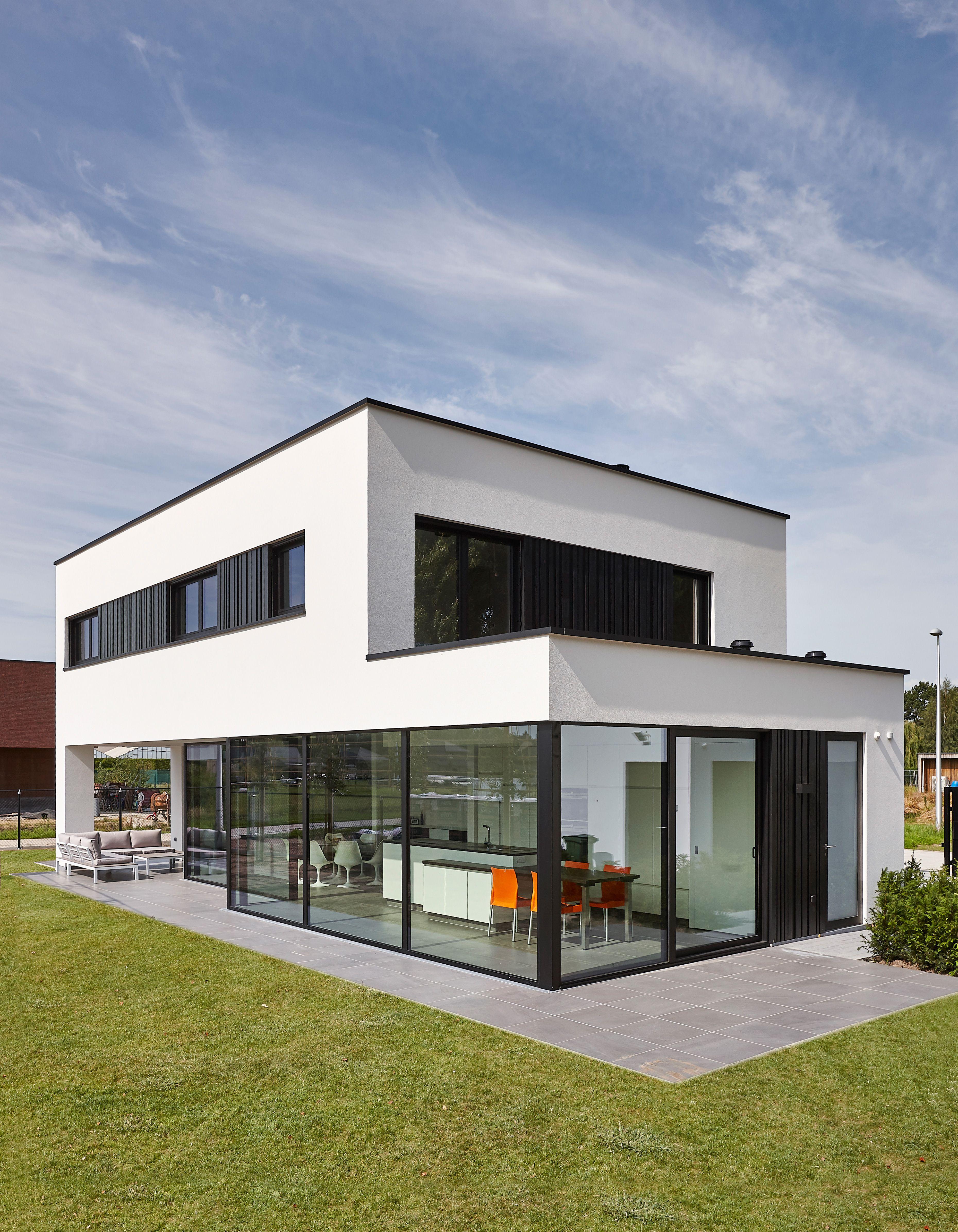 Entzuckend Dumobil | Villabouw #moderne #realisatie #dumobil Bauhausstil, Pultdach,  Zukünftiges Haus,