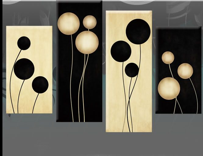 multi+panel+silohuette+wall+art | Cream Abstract Canvas Picture Wall ...