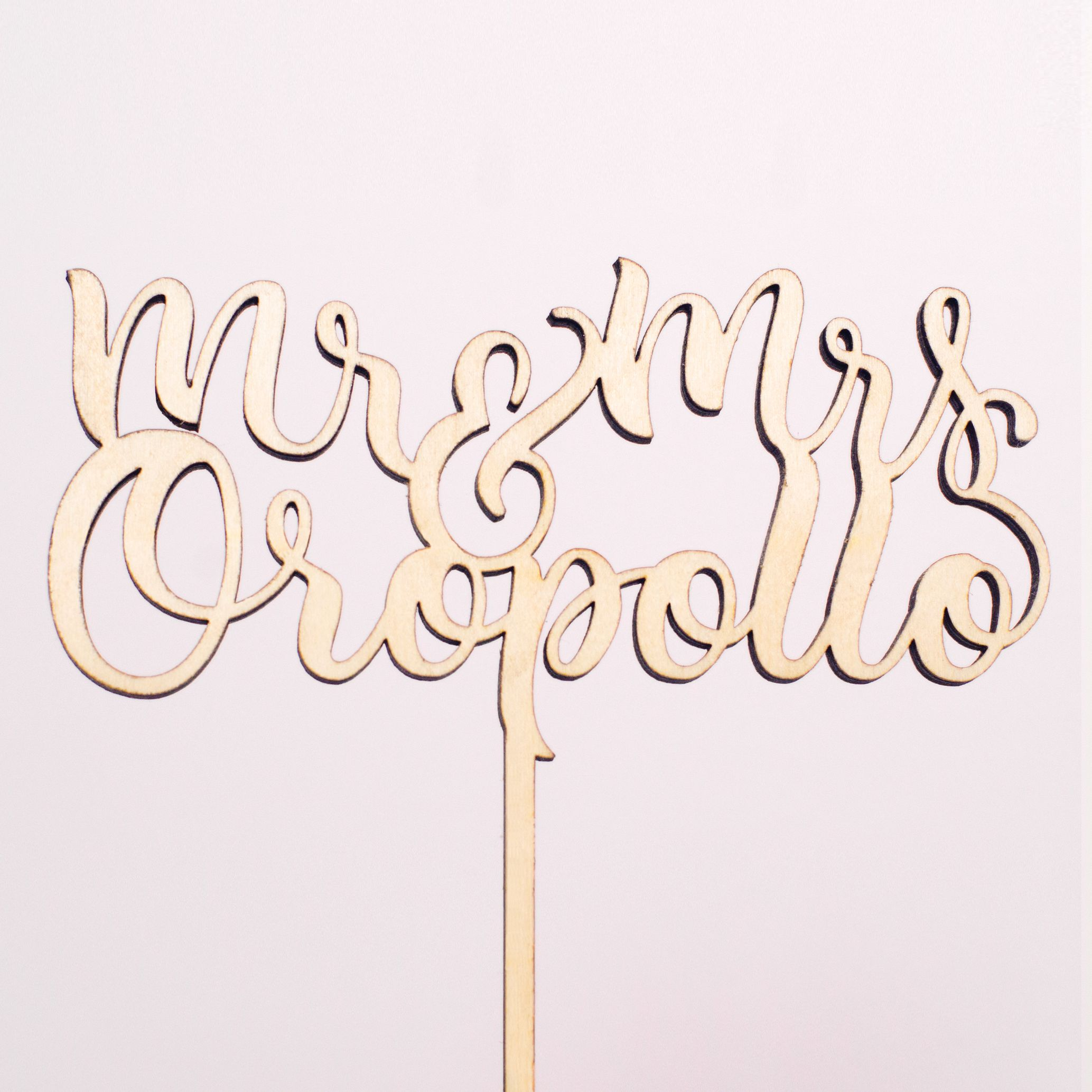 Customize your cake topper with your new last name caketopper