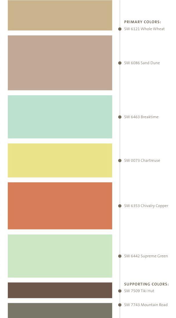 Antique Map Colors Color Schemes Color Color Pallets