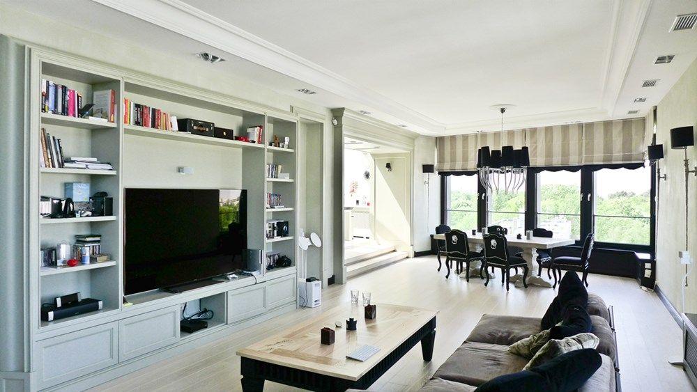 Jadalnia w salonie – styl eklektyczny - Architektura, wnętrza, technologia, design - HomeSquare