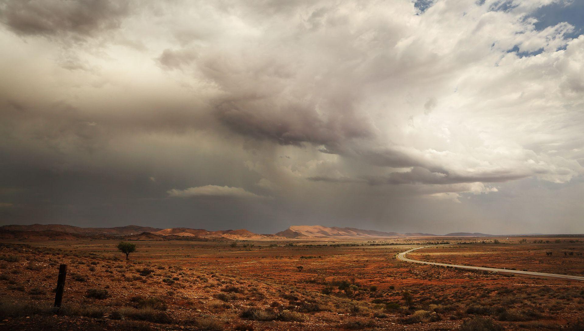 The Rain Sweeps Through Landscape photography, Landscape