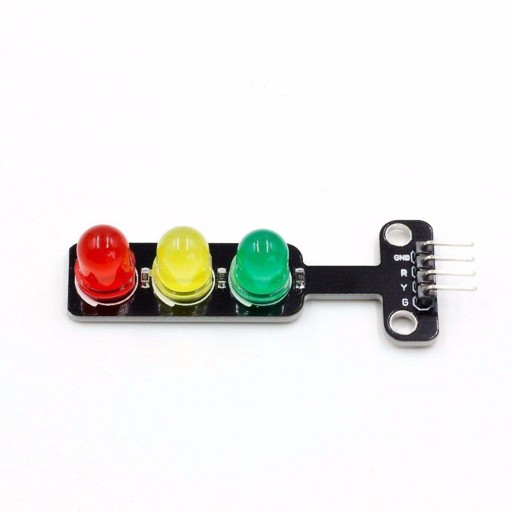 Mini 5V Traffic Light LED Display Module for Arduino Red Yellow Green 5mm LED Mini-Traffic Light for Traffic Light System Model