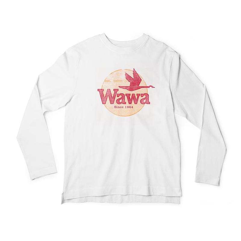 Wawa Vintage Logo Long Sleeve White T Shirt Long Sleeve Tshirt Men White Long Sleeve Long Sleeve