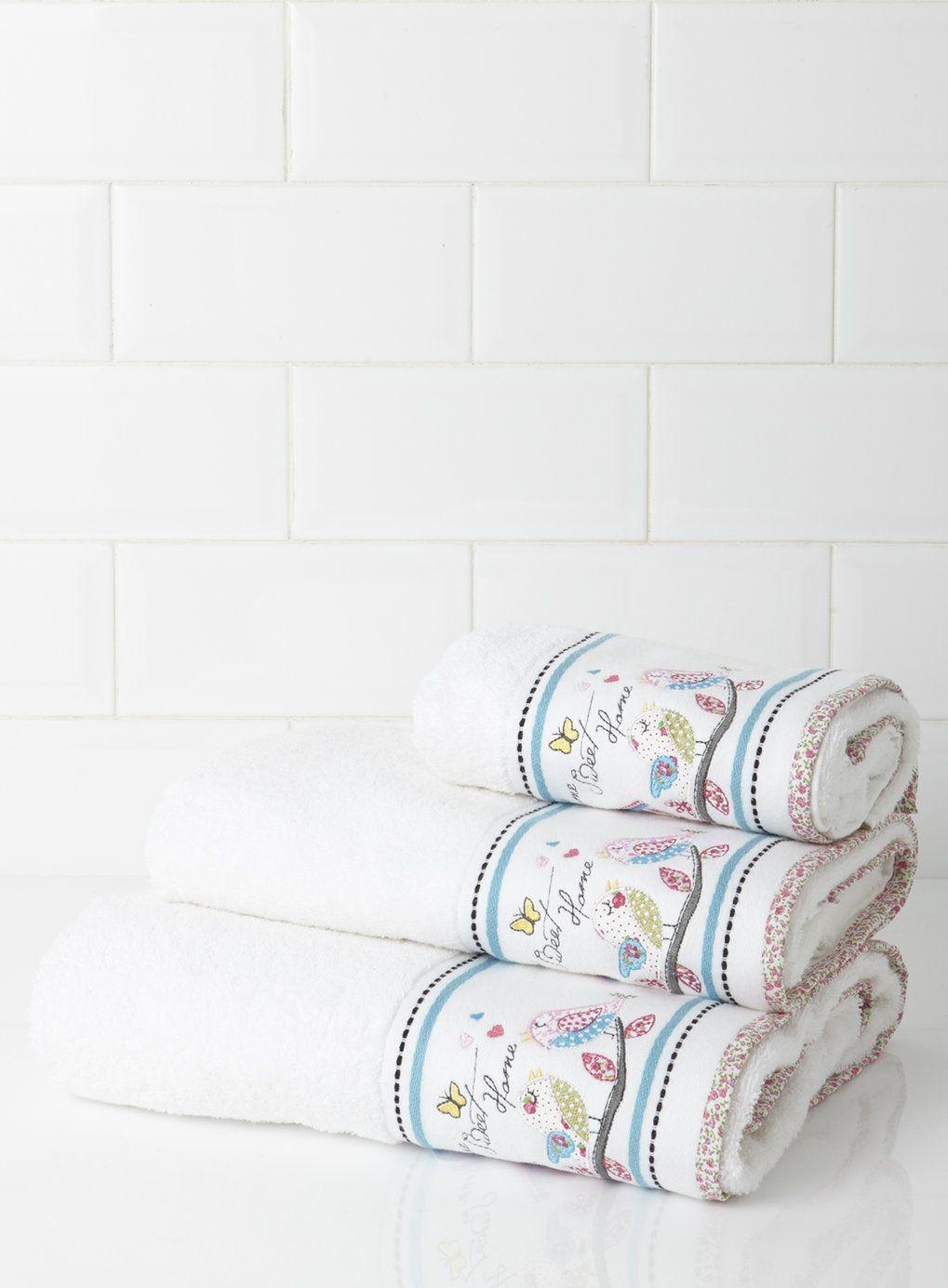Home Sweet Home Applique Towel BHS Bathroom Pinterest - Bhs monochrome word bath sheet bhs monochrome word hand towel