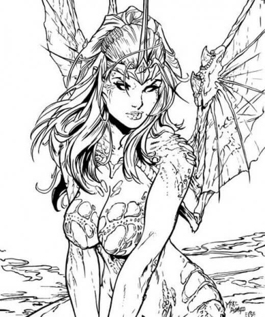 fantasy creatures to color - Google Search | Girls To Color | Pinterest