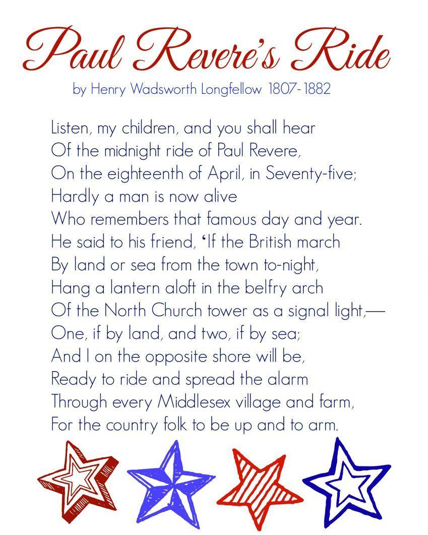 Paul Revere S Ride Memory Work Made Easy Mercyisnew Com Paul Revere How To Memorize Things Paul Revere S Ride