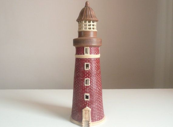 Hand Painted Ceramic Lighthouse 10 3 4 By