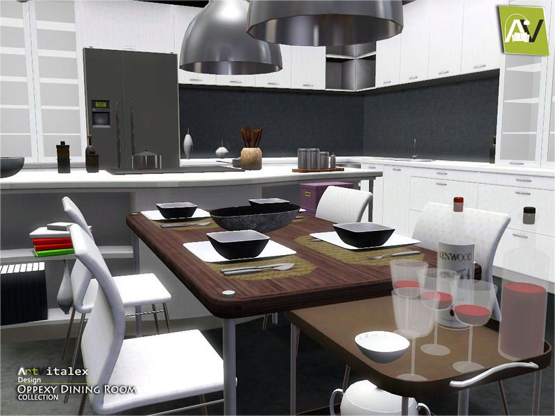 Oppexy Dining Room Found In TSR Category Sims 3 Sets