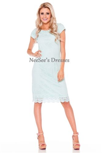 Ice Blue All Lace Dress  ff9eec7a2