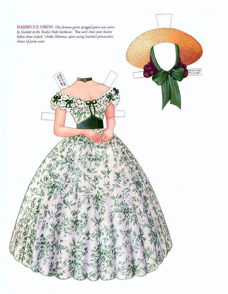 007 Gone With The Wind* The International Paper Doll Society