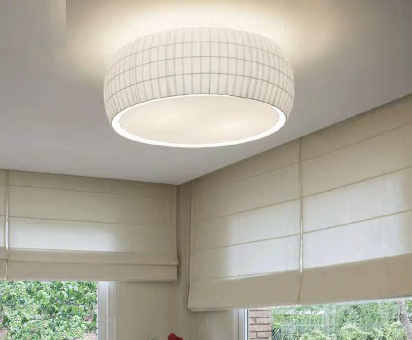 Contemporary Ceiling Light Round Polycarbonate Led