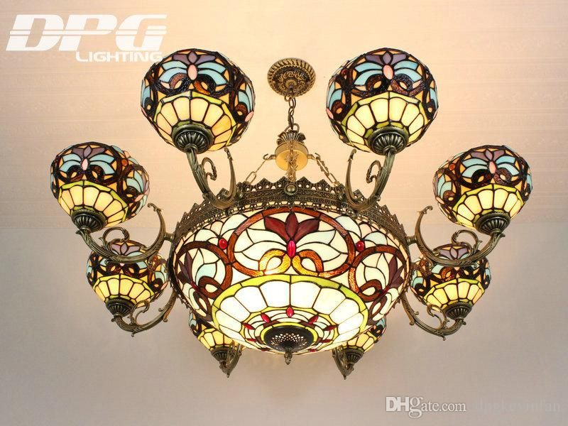 Tiffany Lamp European Chandeliers Living Room Lights Garden
