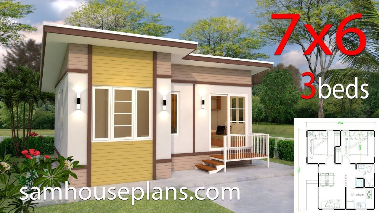 Interior Small House Design 7x6 With 2 Bedrooms Full Plans Small House Design House Design Small House Design Plans