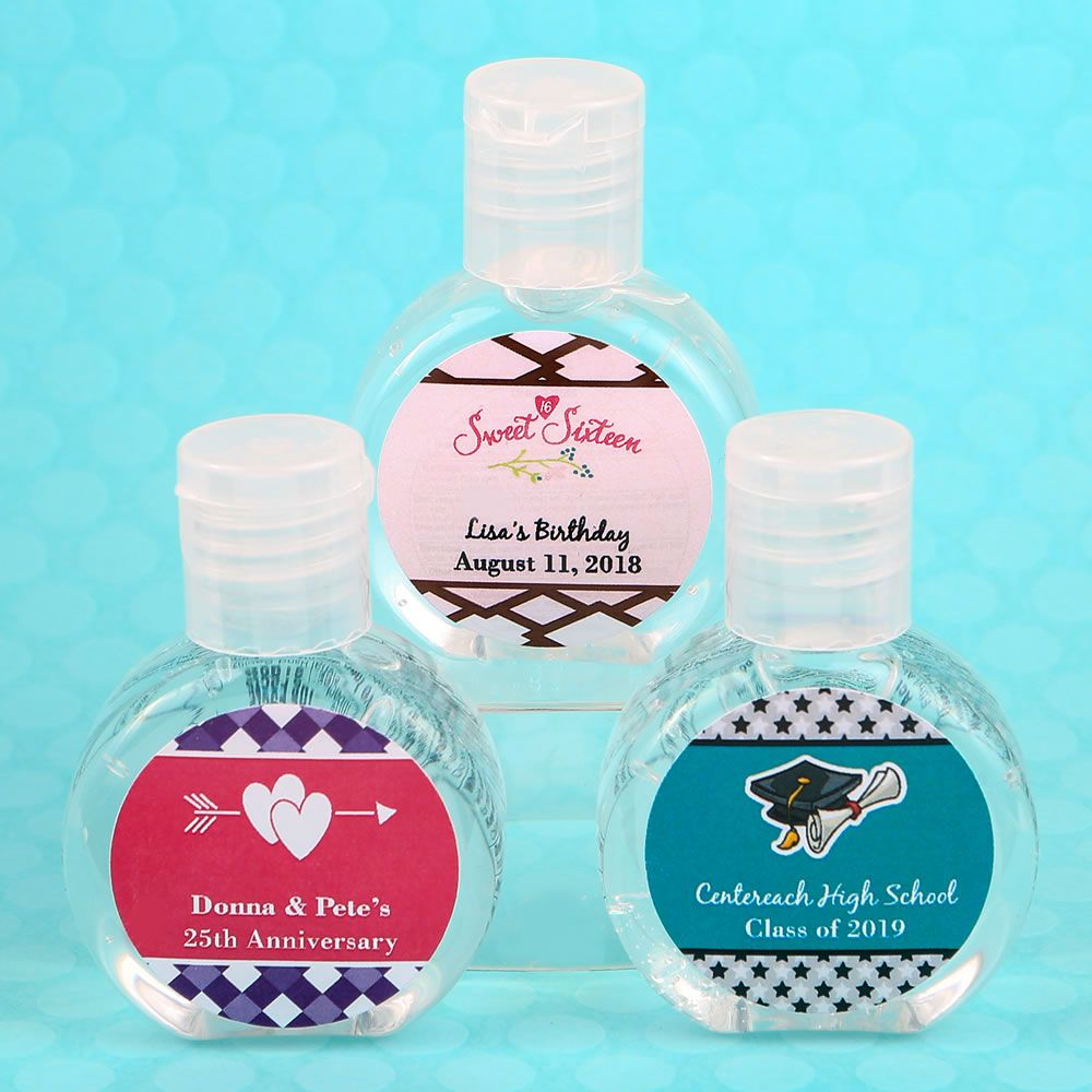 Personalized Expressions Hand Sanitizer Favor Personalized Party