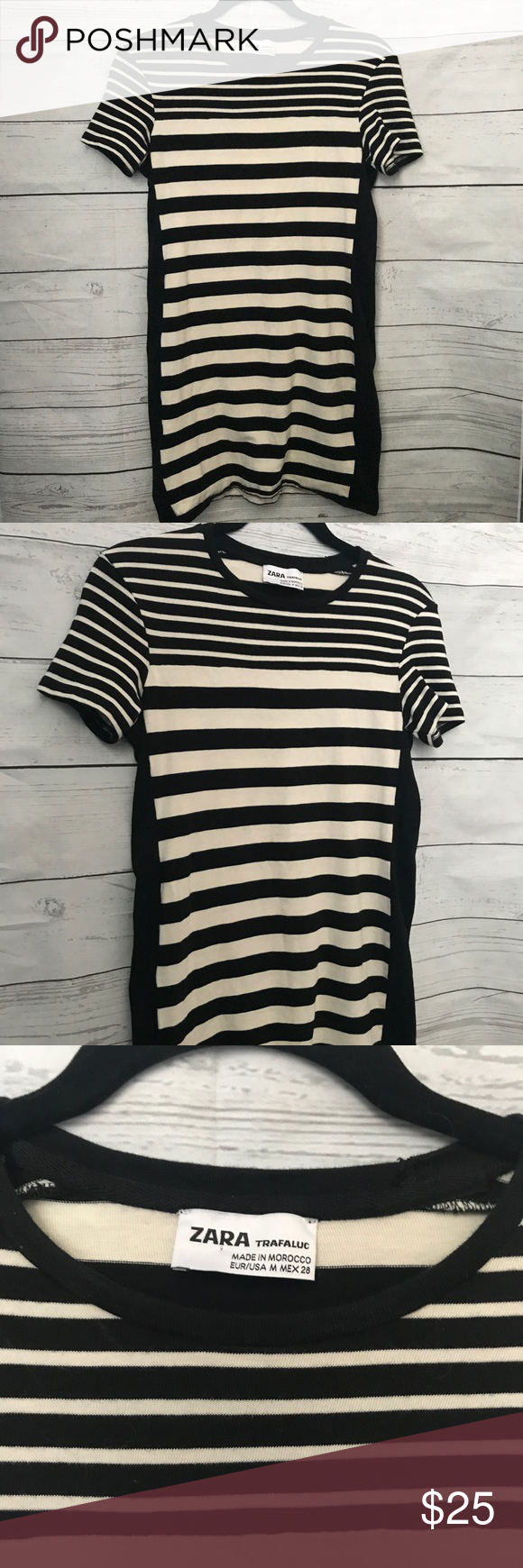 66bb65d4 Zara Cream and Black Striped Knit Dress Zara Cream and Black Striped Knit  Dress size Medium. Never been worn dress from Zara! Black and cream colored  ...