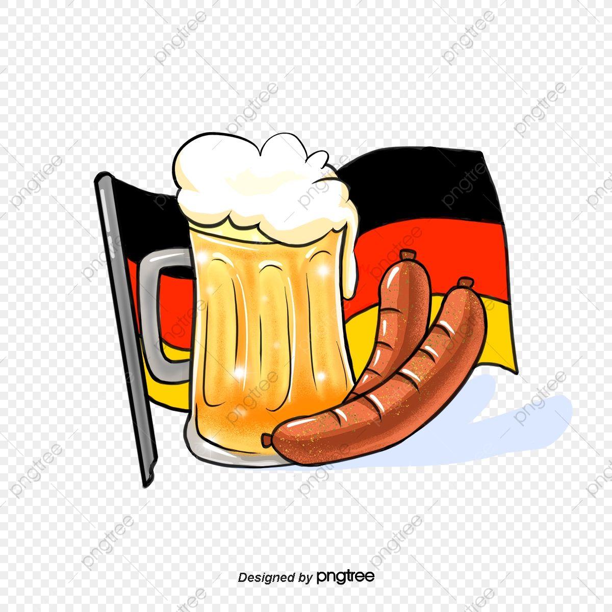Flaga Niemiec, W Niemczech, Niemcy, Flagi. PNG i plik PSD