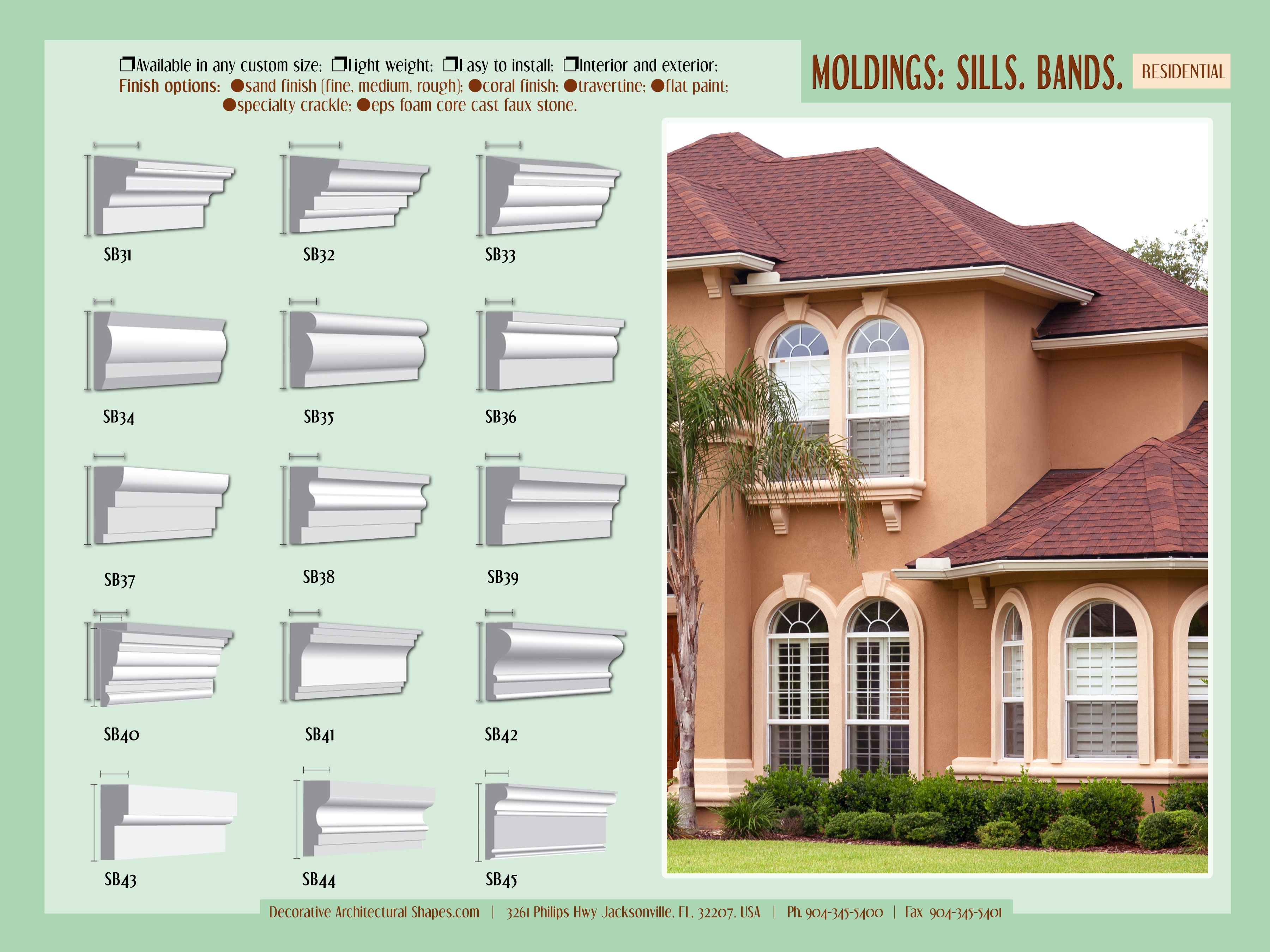 Pin By Decorative Architectural Shape On Decorative Architectural Shapes Catalog Cornice Design Moldings And Trim Stucco Exterior