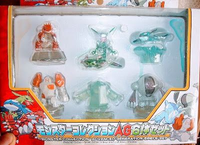 regice clear version pokemon figure tomy monster collection ag 6pcs