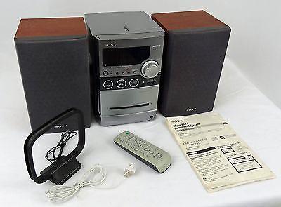 Sony CMT NEZ30 AM FM CD Cassette Player Audio Bookshelf 3 Pc Stereo