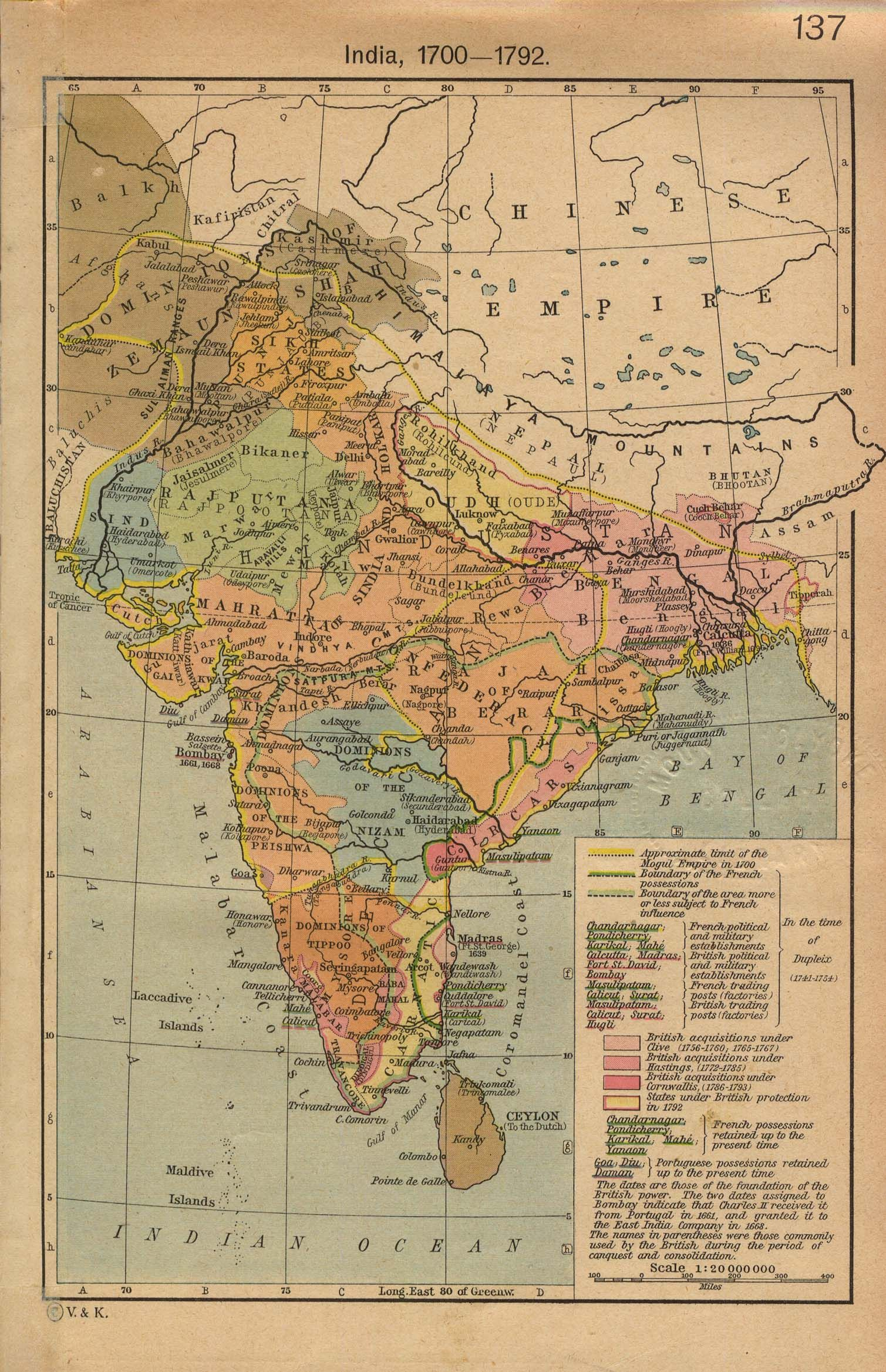 18th century india map india mappery upsc prep pinterest 18th century india map india mappery gumiabroncs Choice Image