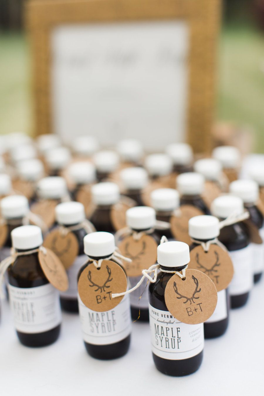 Rustic Meets Romantic Vermont Wedding | Maple syrup, Favors and Wedding