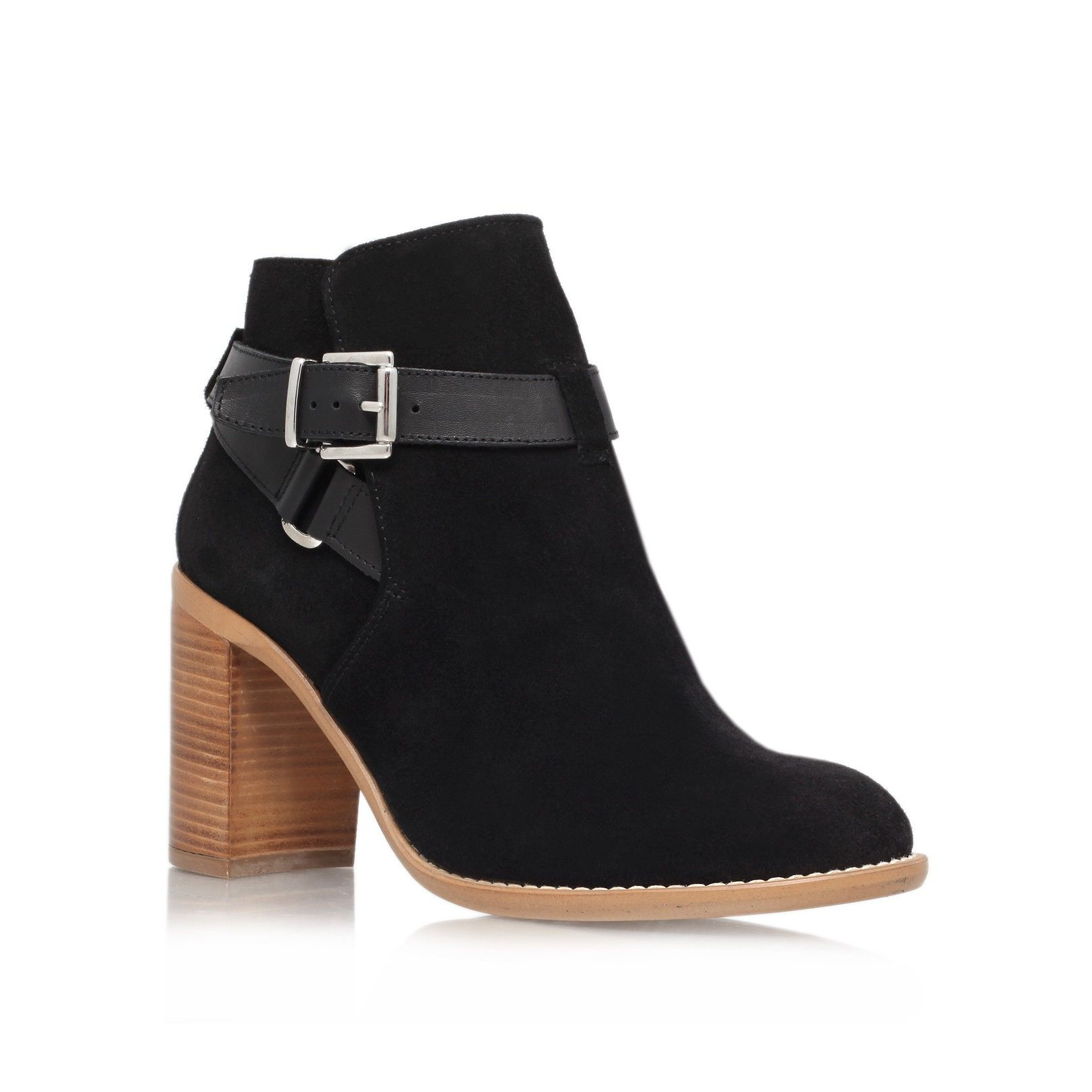 2016 Hot Sale Kg By Kurt Geiger Sebastien Block Heeled Ankle Boots Women Wine Leather HMJHF92