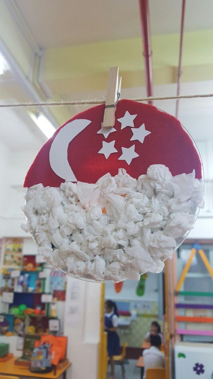NDP paper plate craft Festive crafts, Flag crafts