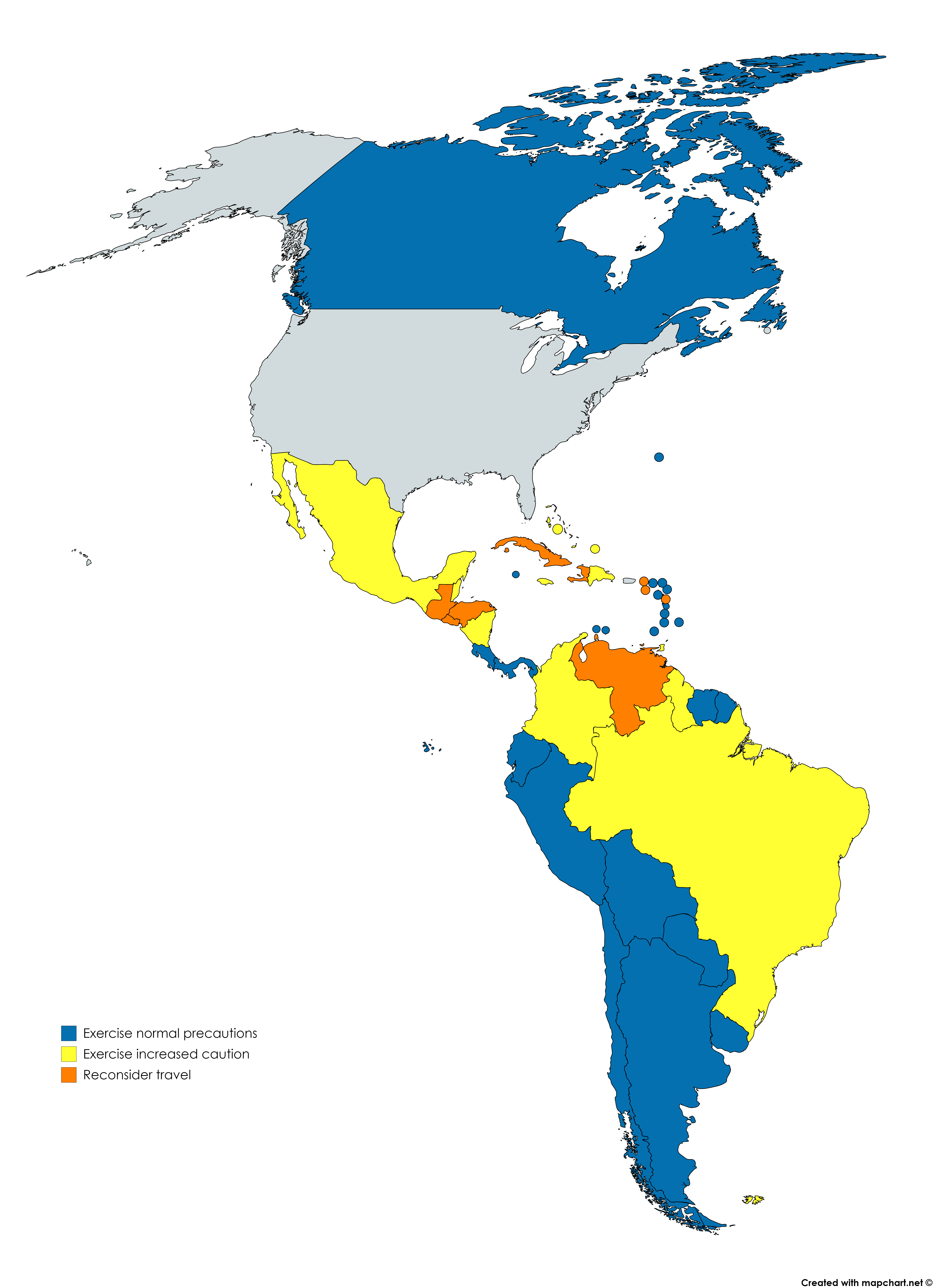 Us travel advisories for north and south america maps pinterest us travel advisories for north and south america gumiabroncs Images