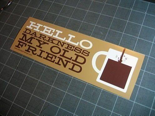 Pack Hello Darkness My Old Friend Vinyl Bumper Stickers - Vinyl bumper stickers