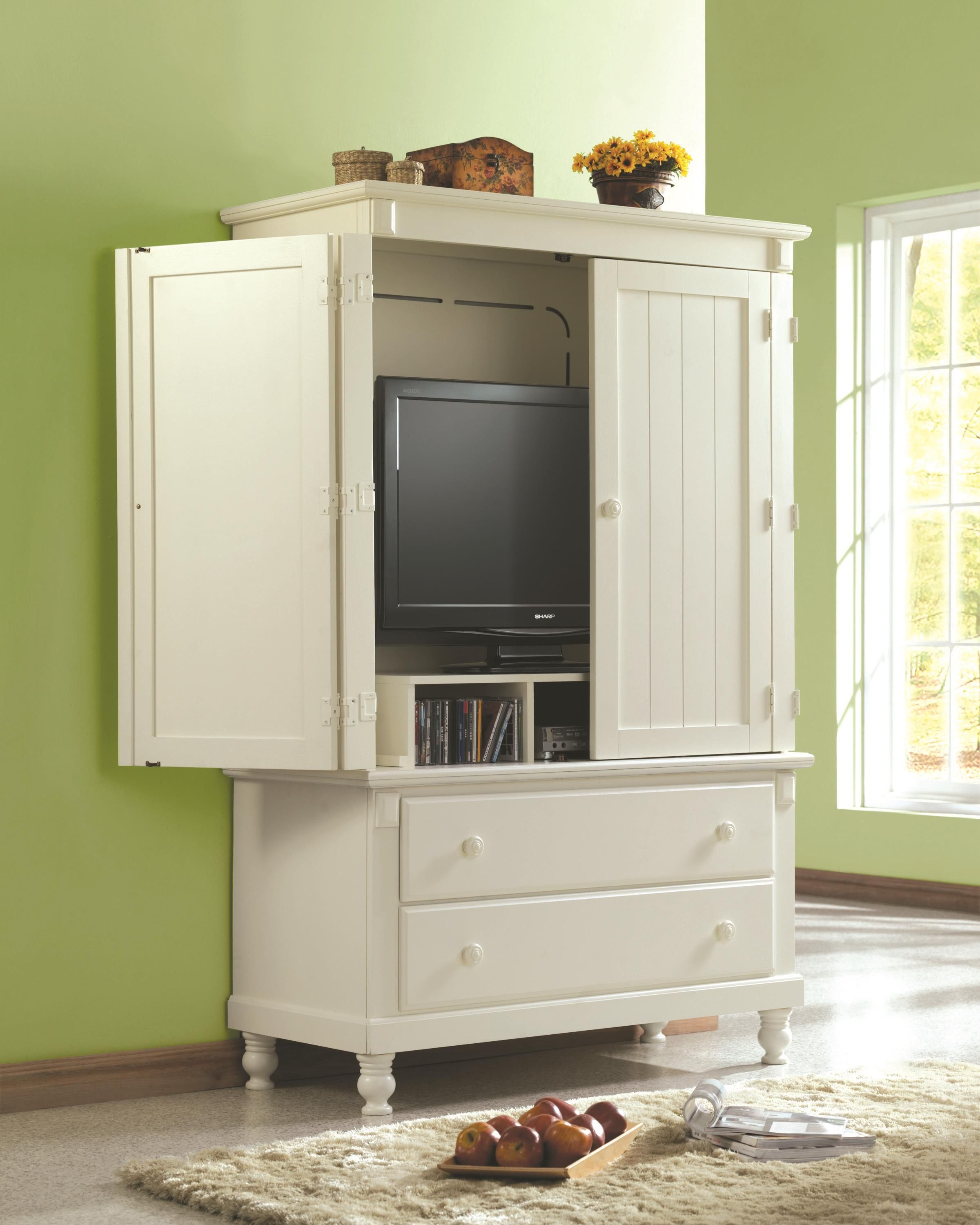 White Tv Cabinets With Doors For Flat Screens