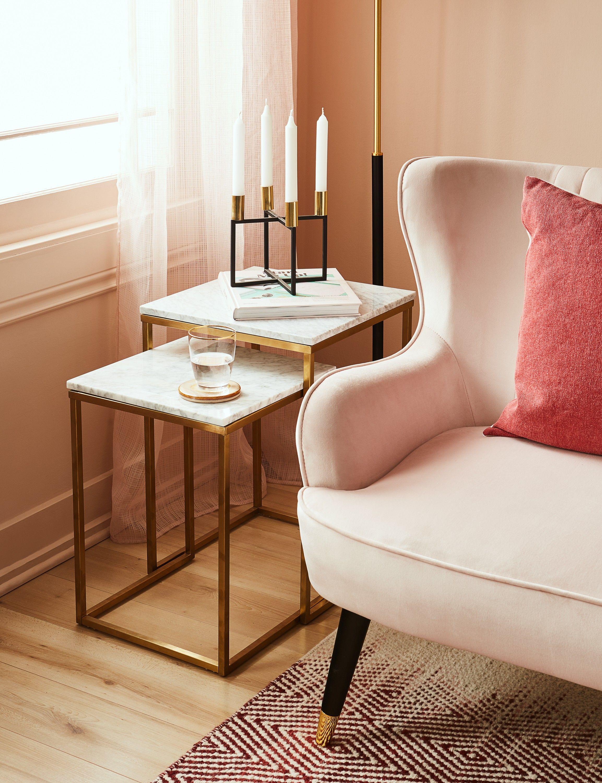 Vinci Almond Set Of 2 Marble Nesting Tables Structube Marble Side Table Living Room Nesting Tables Living Room Living Room Side Table [ 3000 x 2307 Pixel ]