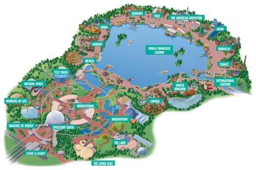 The map of Epcot