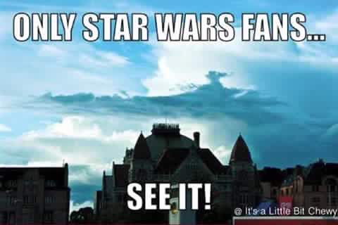 Only Star Wars Fans Will See It Star Wars Fans Star Wars Humor Star Wars Memes