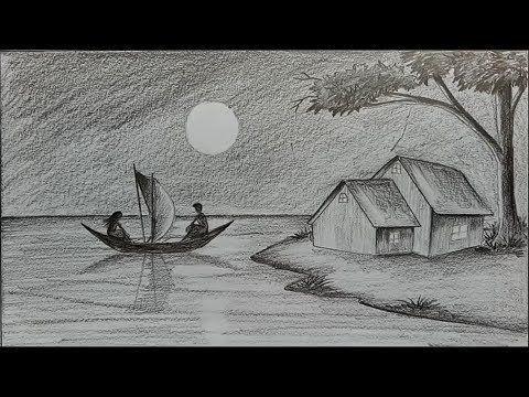 Karakalem Manzara Çizimi Nasıl Yapılır? Kara kalem Manzara Çalışması - YouTube #realisticeye