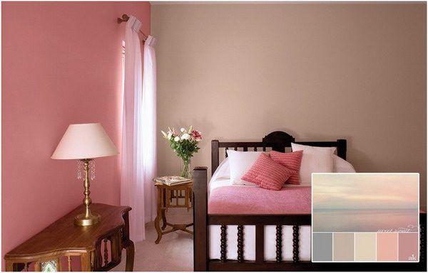 Eine Rosa Wand Fur Das Schlafzimmer Neue Bettwasche Aus Leinen Rosa Wande Wandfarbe Wohnzimmer Und Dekoration Wohnung