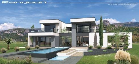 Vues exterieures villa contemporaine villa design contemp toit terrasse maison moderne - Maison disigne ...