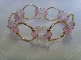 519eaf5b3e5a Resultado de imagen para pulseras de cristal swarovski con oro ...