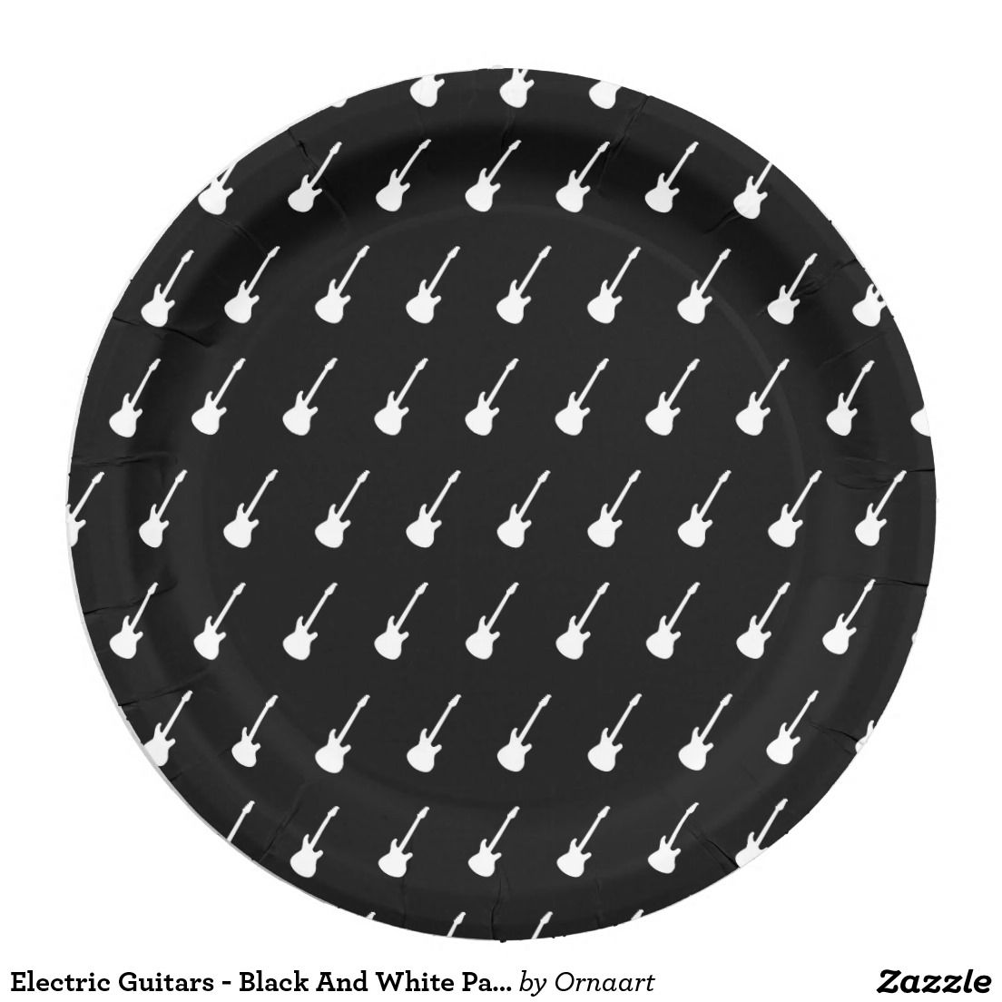 Electric Guitars - Black And White Paper Plates 9 Inch Paper Plate  sc 1 st  Pinterest & Electric Guitars - Black And White Paper Plates 9 Inch Paper Plate ...