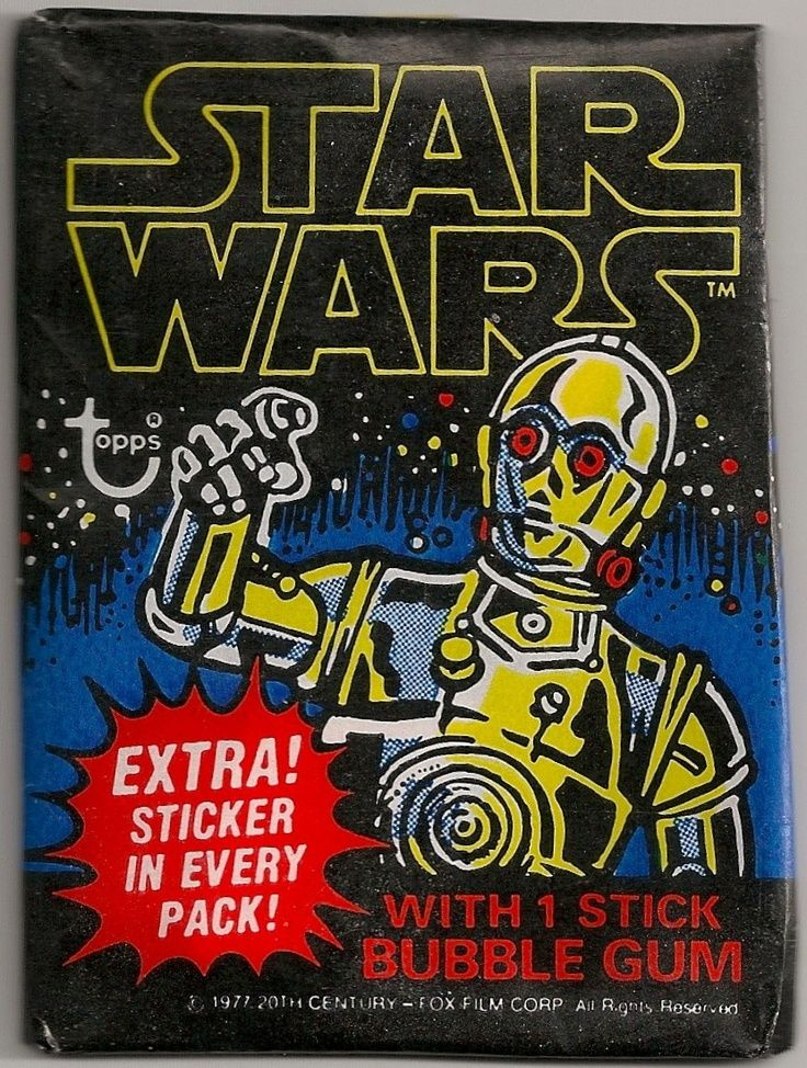 Image result for vintage star wars trading cards wrap